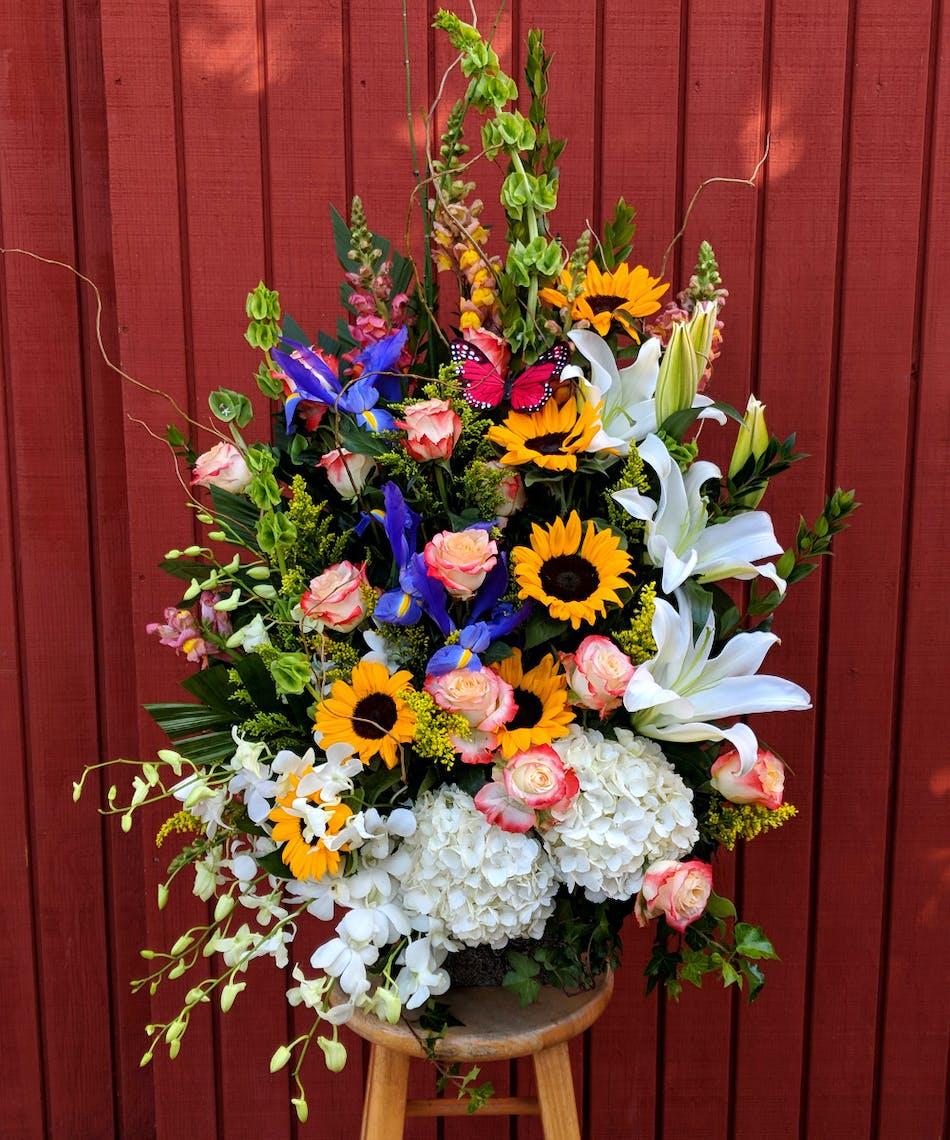 Blissfully vibrant bouquet whittier ca delivery izmirmasajfo