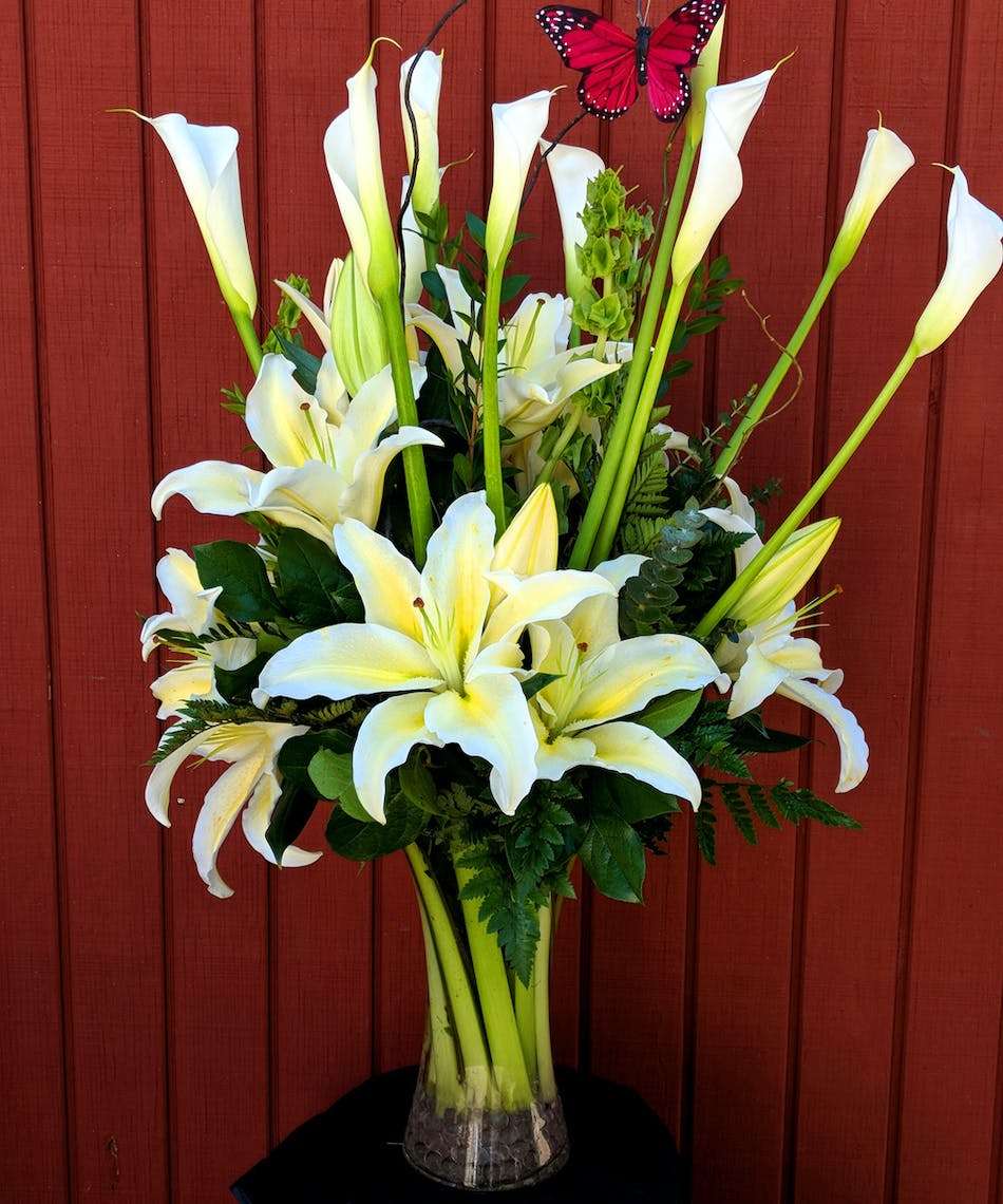 Everlasting Calla Lily Stargazer Lily Bouquet In Rowland Heights Ca