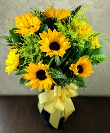 Sunny Sunflower Bouquet in Whittier, CA