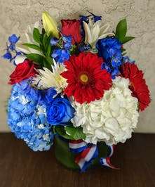 America The Beautiful Bouquet with Daisies, Hydrangea, & Roses in Rowland Heights, CA