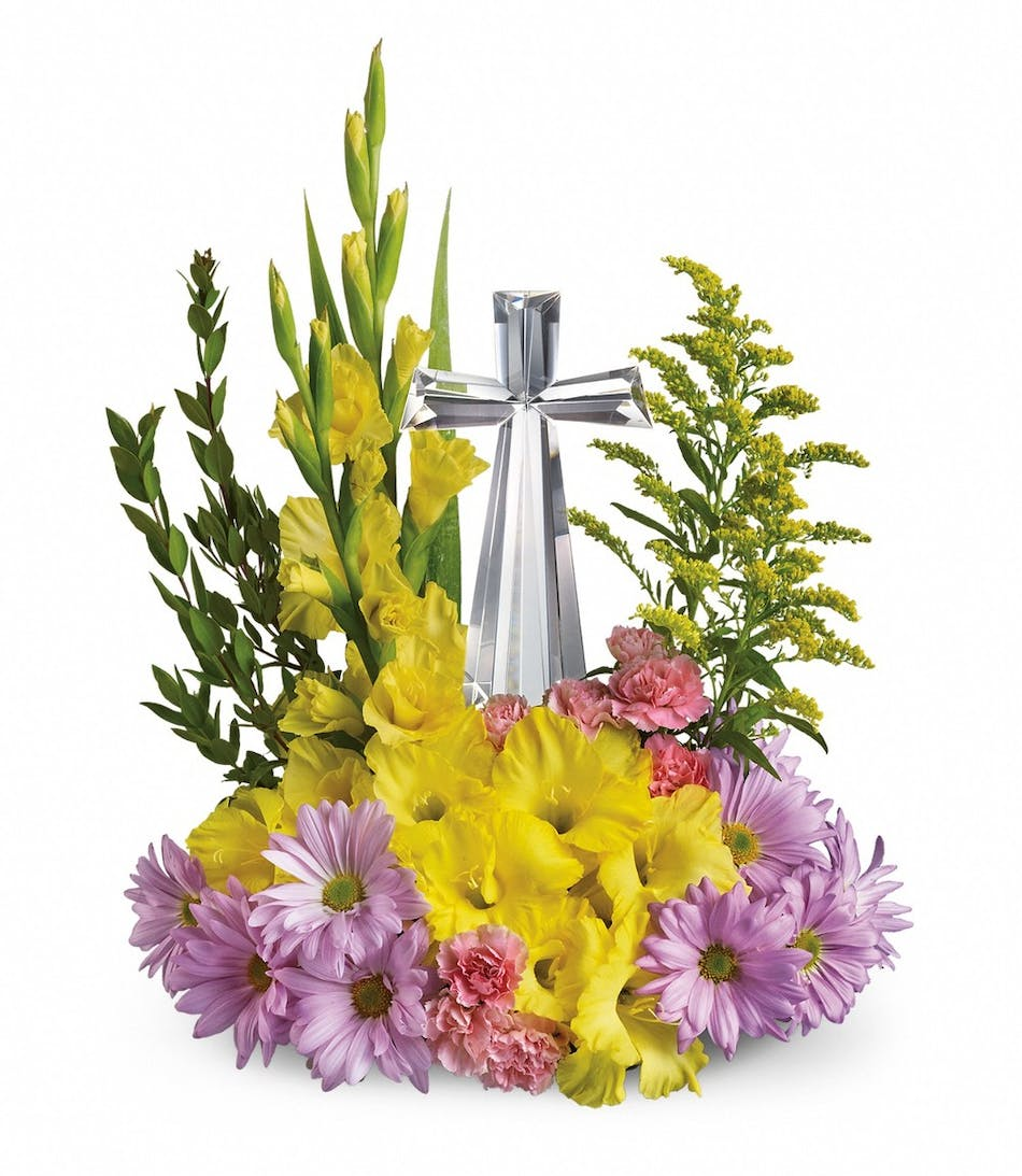 Crystal Cross Bouquet In Rowland Heights Whittier Glendora Ca