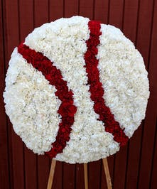A unique design in the shape of a baseball!