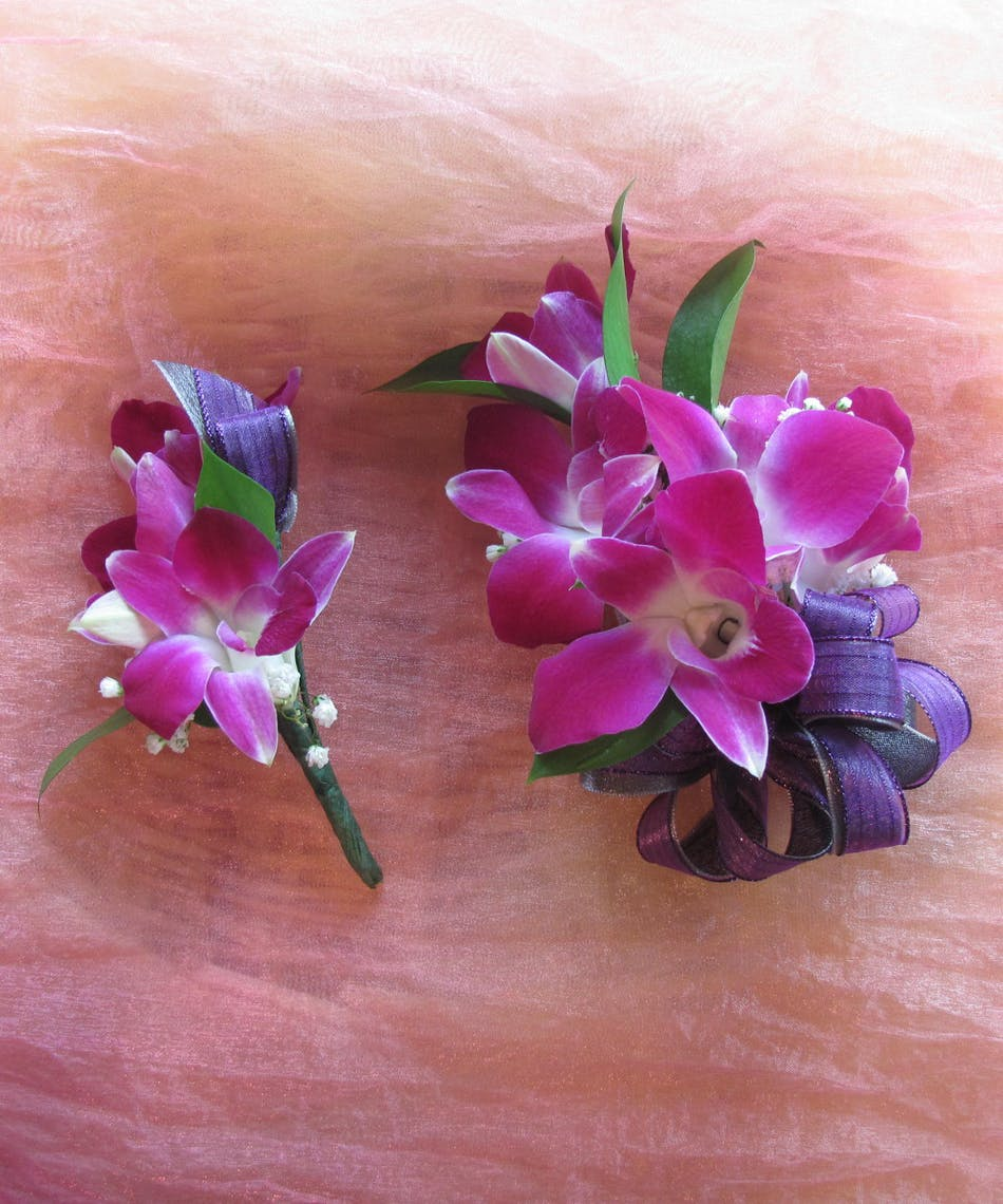 Dendrobium Orchid Corsage Boutonniere Rowland Heights