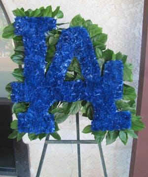 LA Dodgers Logo Funeral Design