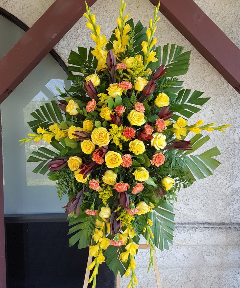 Ray Of Sunshine Funeral Spray Rowland Heights Delivery
