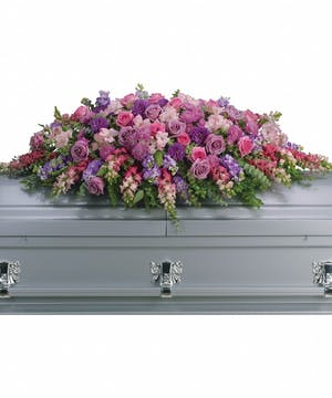 Lavender Tribute Casket Spray in Rowland Heights, Whittier, Glendora, CA