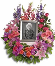 In Loving Memory Cremation Wreath