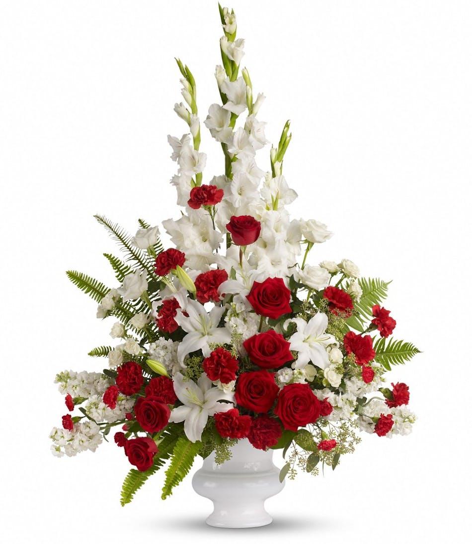 Memories To Treasure Funeral Flower Display