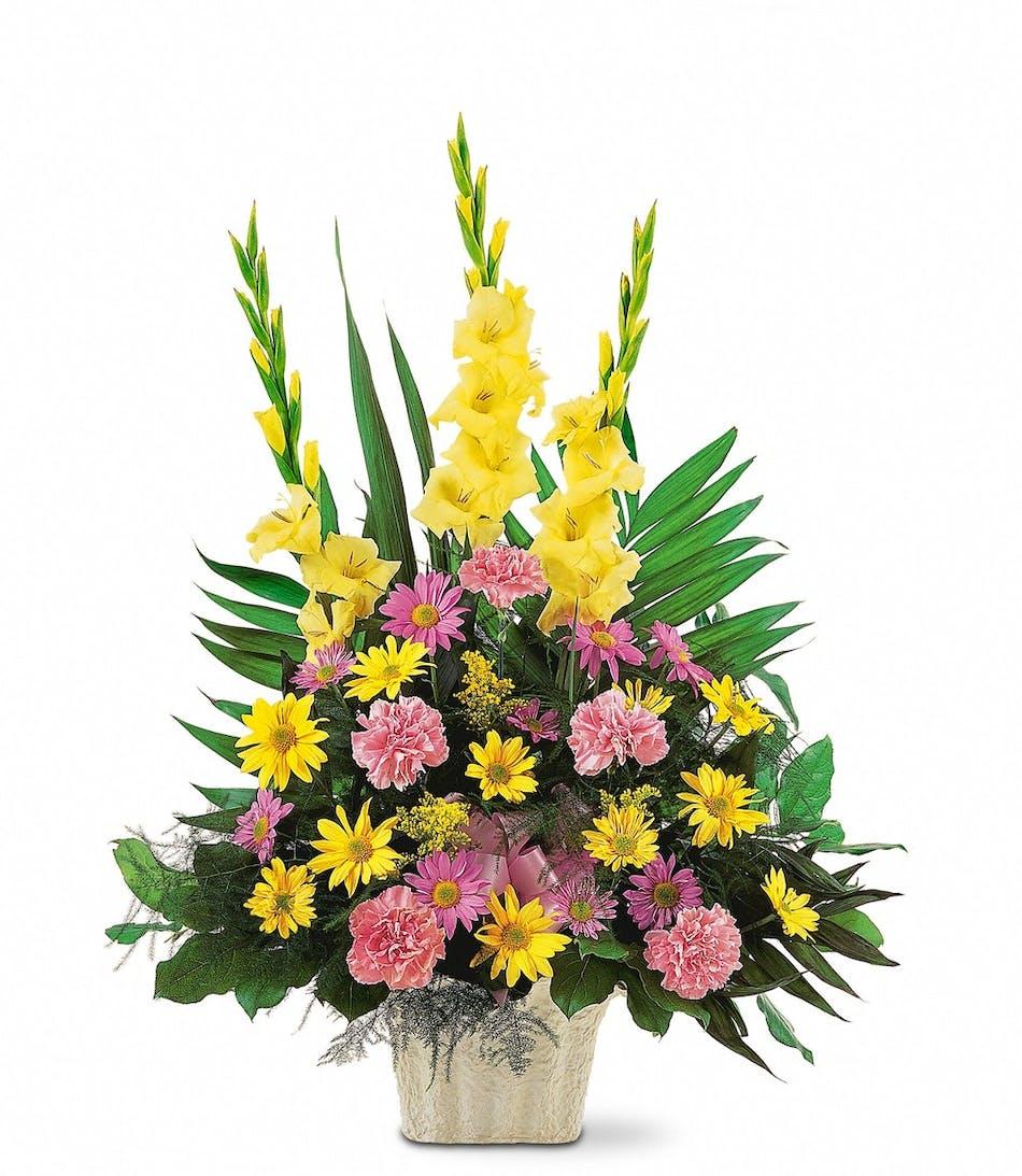 Beautiful Thoughts Funeral Flower Arrangement Glendora Ca