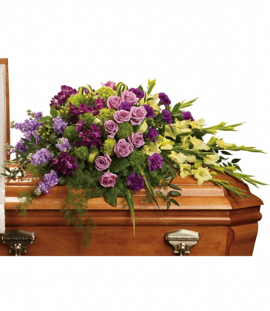 Reflections Of Gratitude Casket Spray Funeral Flowers