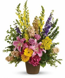 A magnificent bouquet with vibrant colored flowers