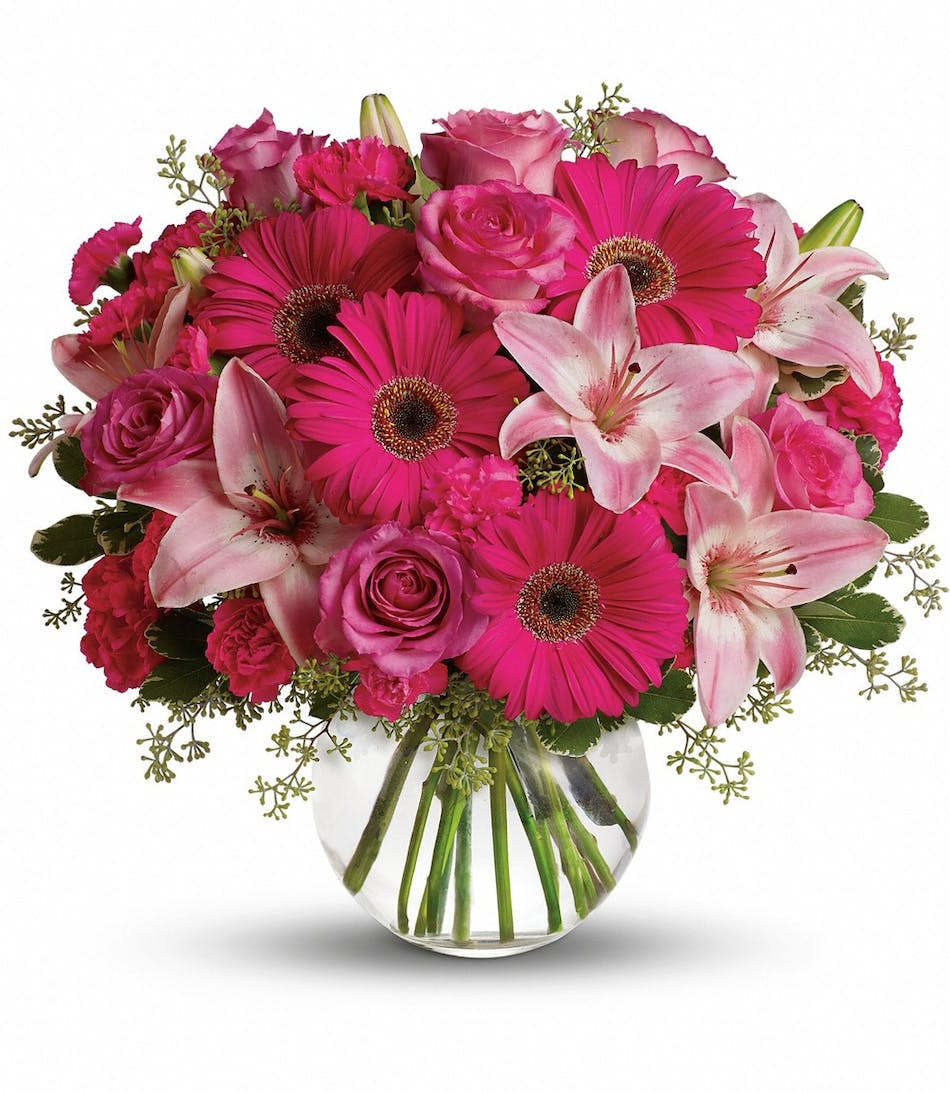 A Little Pink Me Up Bouquet Rowland Heights Ca Florist