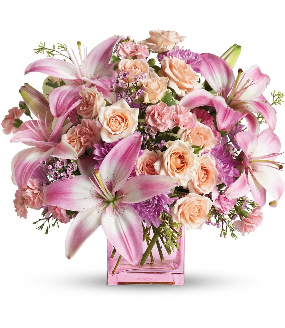 Rowland Heights Flower Delivery Possibly Pink Bouquet