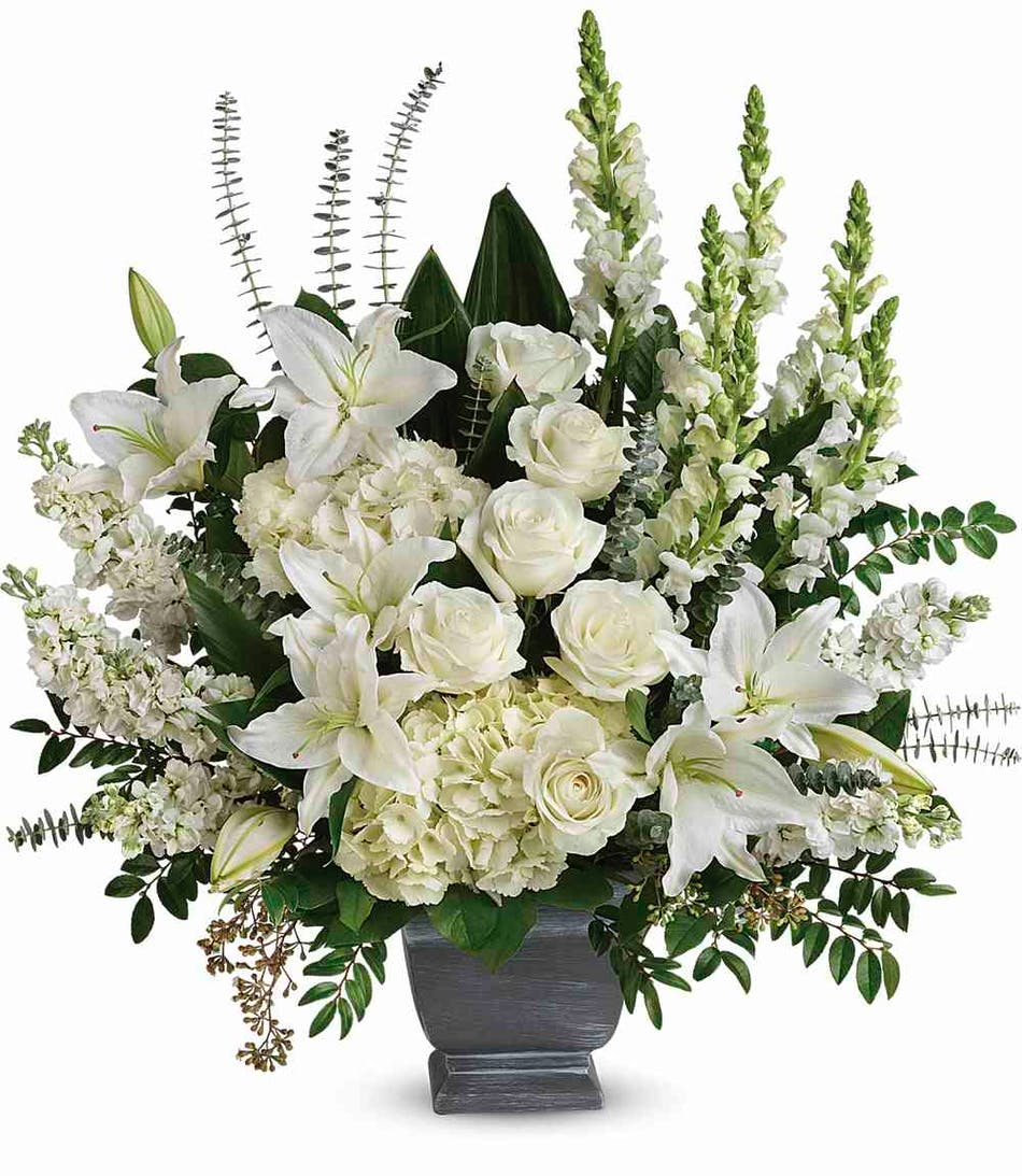 True Horizon Bouquet With White Roses In Rowland Heights Ca