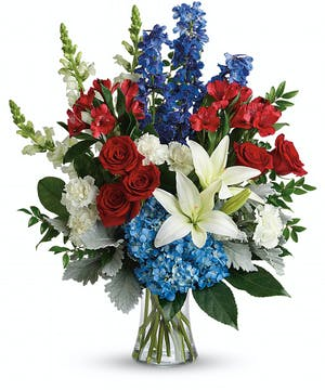 Perfectly patriotic with these red, white and blue blooms
