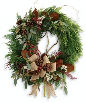 Rustic Holiday Wreath in Rowland Heights, CA