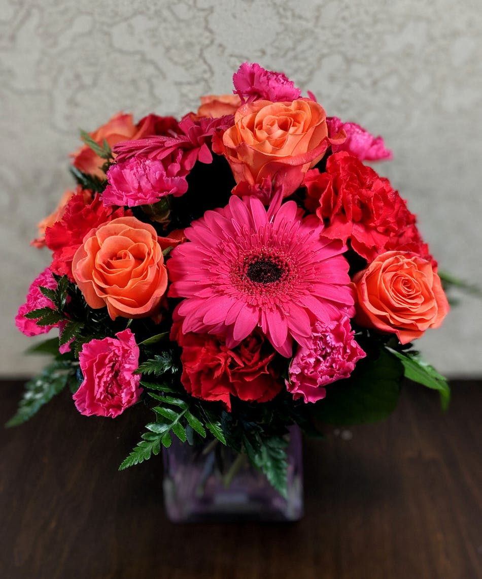 Rowland Heights Flower Delivery Turn Up The Pink Bouquet
