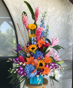 Baja Tropical Arrangement delivered in Glendora, CA