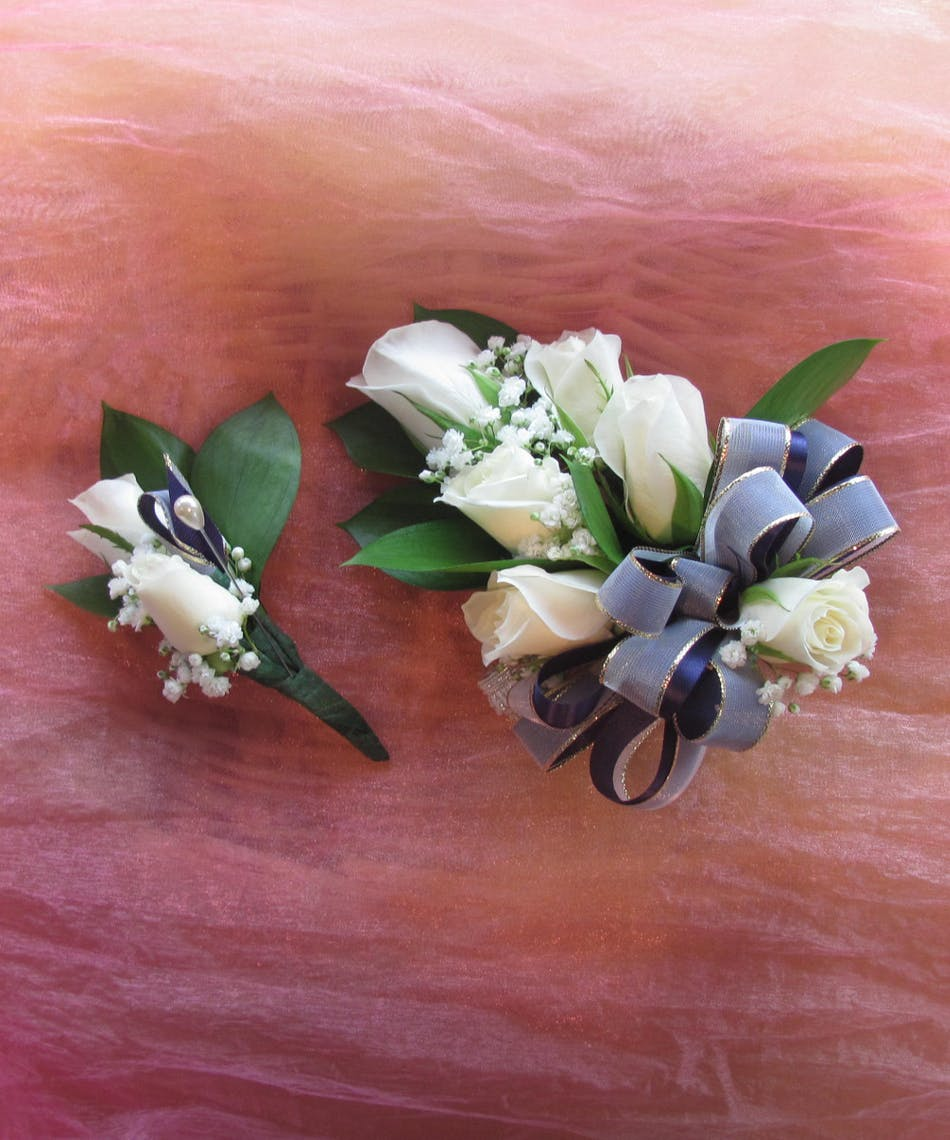 Spray Rose Corsage & Boutonniere in Rowland Heights, Whittier, Glendora, CA