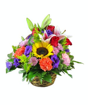 Colorful Basket delivered in Rowland Heights, Whittier, Glendora, CA