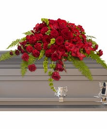 Red Rose Sancturay Casket Spray