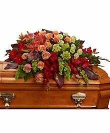 Fond Farewell Casket Spray | Ron & Alicia Robinson Florist