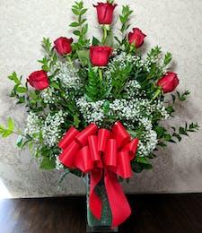 6 Long-Stem Red Roses