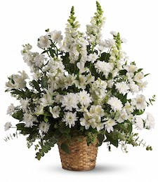 Heavenly Light Funeral Basket